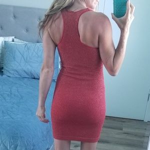bebe Dresses - Red shimmery bodycon dress Bebe XS
